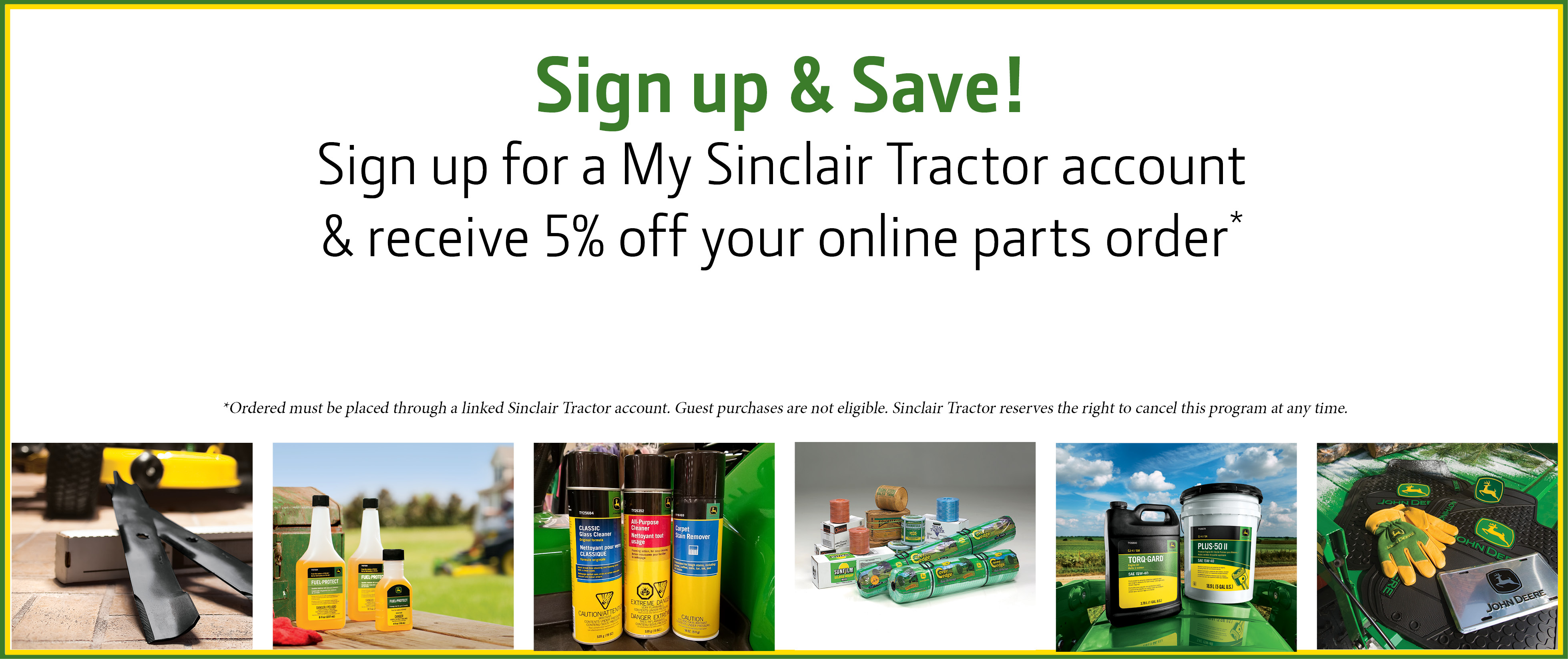 Sign up for My Sinclair Account GUEST